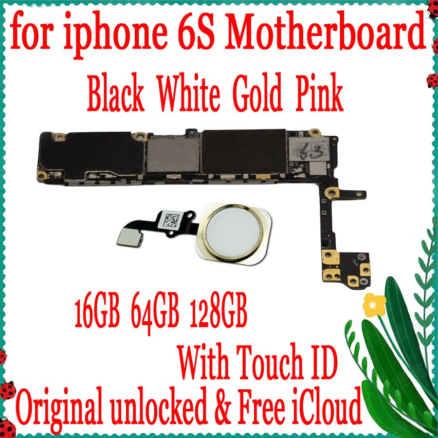 for iphone 6S Motherboard with Touch ID,100% Original unlocked for iphone 6S Mainboard with Free iCloud,16GB 64GB 128GBfor iphone 6S Motherboard with Touch ID,100% Original unlocked for iphone 6S Mainboard with Free iCloud,16GB 64GB 128GB