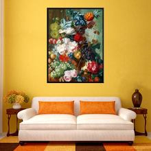 New Arrival Color Flowers and Fruits High Quality Photo Handpainted Painting Art Printed Canvas Wall for Office Decor Custom