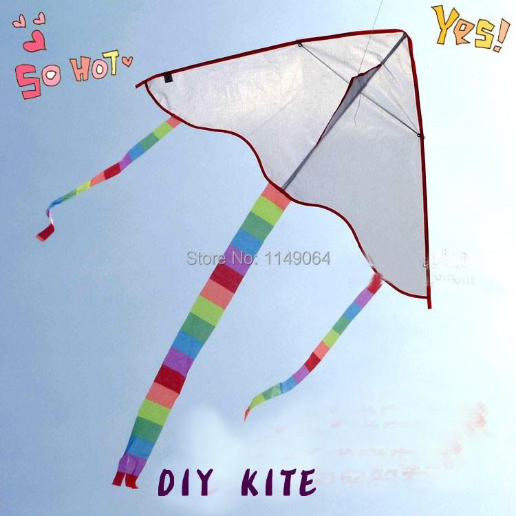 Free Shipping 5pcs/lot Diy Kite Blank Kite Line Ripstop Nylon Fabric Kite Weifang Kite Factory Painting Chinese