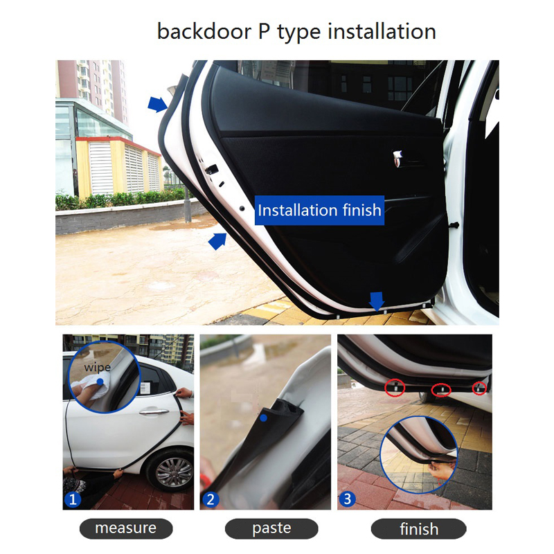 Youwinme 2m Car Rubber Seal Strip D Z P B Type 3M Adhesive Sound Insulation Windshield Auto Door Weatherstrip Edge Noise Sealing Лобовое стекло