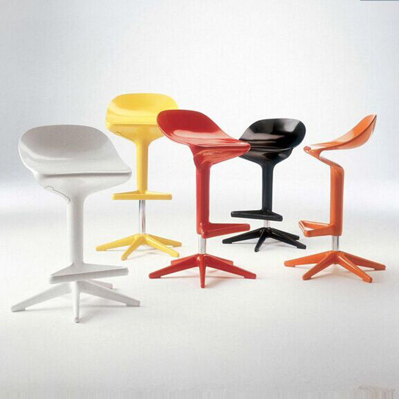 New Spoon bar chair,European lifting, trendy bars furniture ,Fashion bar stool,color,red white black,yellow bar stool 2 pcs lot