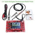 """2.4 """"TFT Kit Peças para Osciloscópio Osciloscópio Digital 1 Msps Fazendo Conjunto de diagnóstico Eletrônico-ferramenta de Aprendizagem DSO138 + Sonda P6040"""