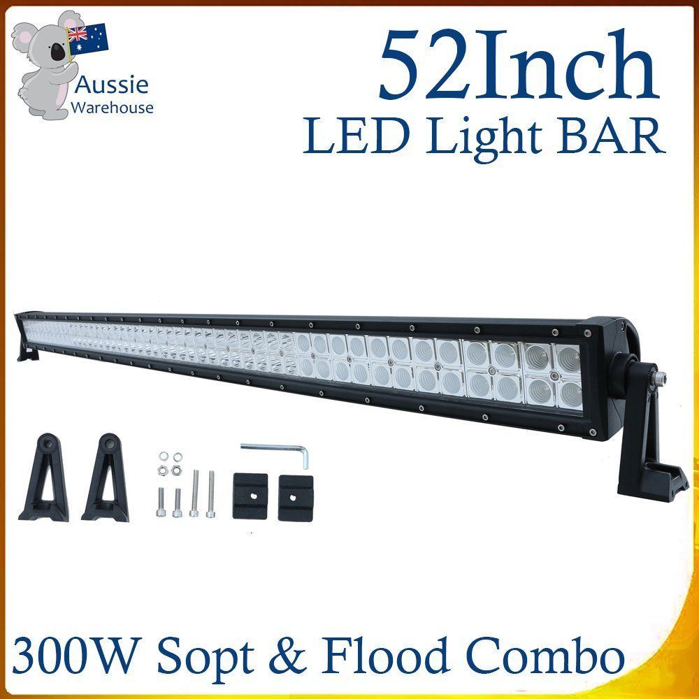 ФОТО 52'' Inch Curved LED Work Light Bar Drive Combo 300W Fog Work Lamp Car For Jeep SUV 4x4WD Truck