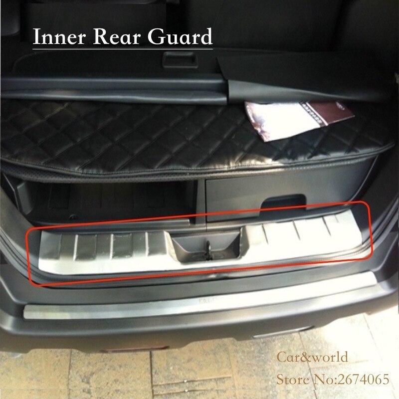 Pour Nissan x-trail T31 pare-chocs arrière porte arrière seuil de hayon couvercle garniture protecteur X Trail 2008 à 2013 acier inoxydable voiture-style