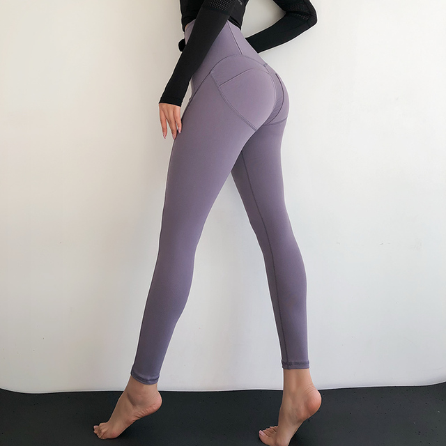 Peach Rump Sport Leggings Sexy High Waist Hip Lift Push Up Yoga Pants Tight Elastic  Slim Fitness Activewear Gym Workout Running 9a3c9c0c82e9