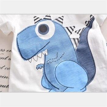 Set Kaos Dinosaurus dan Celana pendek  2