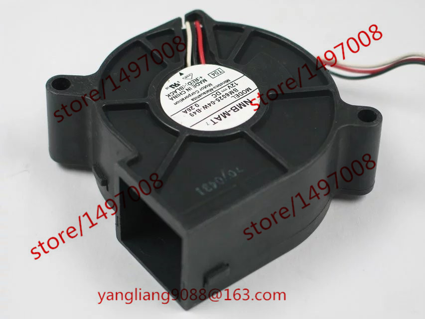 Free Shipping For  NMB BM6025-04W-B49, T04 DC 12V 0.26A 3-wire 70mm 60x60x25mm  Server Blower Cooling fan зеркальце со стразами la geer 1110072