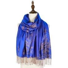cape shawls jacquard scarf wraps femme pashmina vintage winter floral scarfs women fashion hijab soft amice