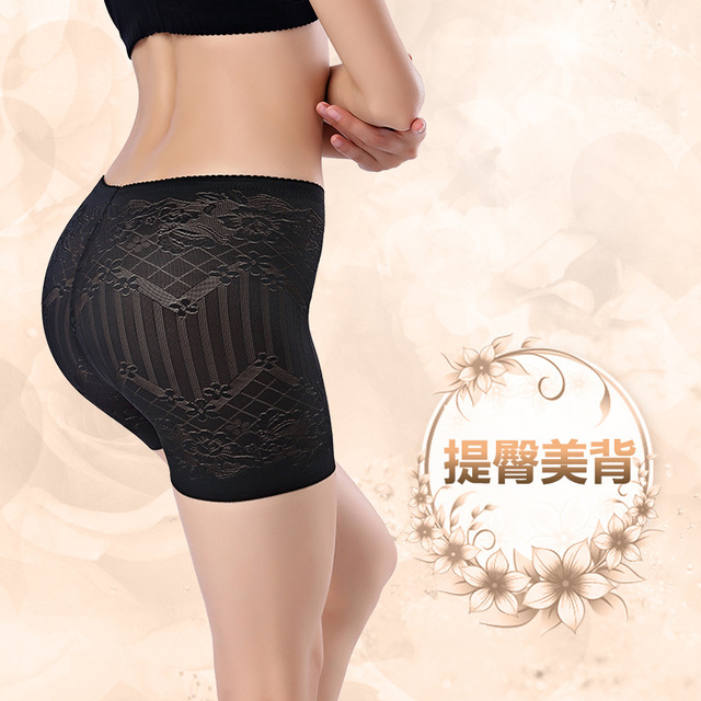 c433d1a432 New Women Lace Padded Sexy Panty Full Butt Hip Enhancer Hot Body Panties  Shaper Underwear Silicone