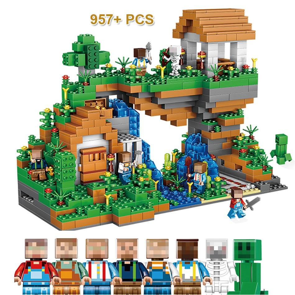 957+PCS My World Hidden Water Falls Building Blocks Bricks