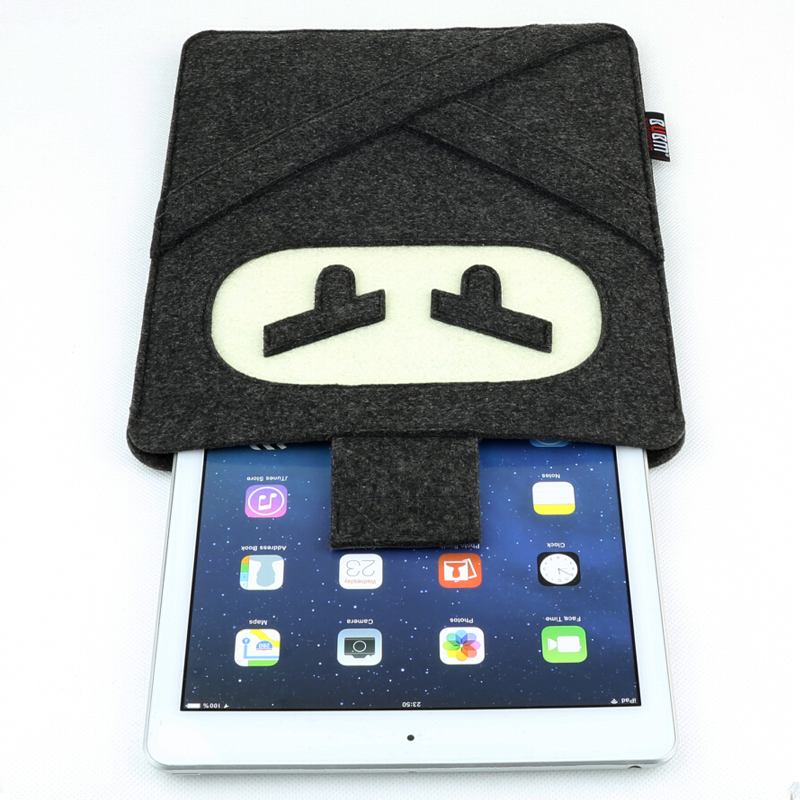 BUBM iPad mini iPad without with case ninja panda pig raccon teddy bear style fashion felt material tablets laptop storage