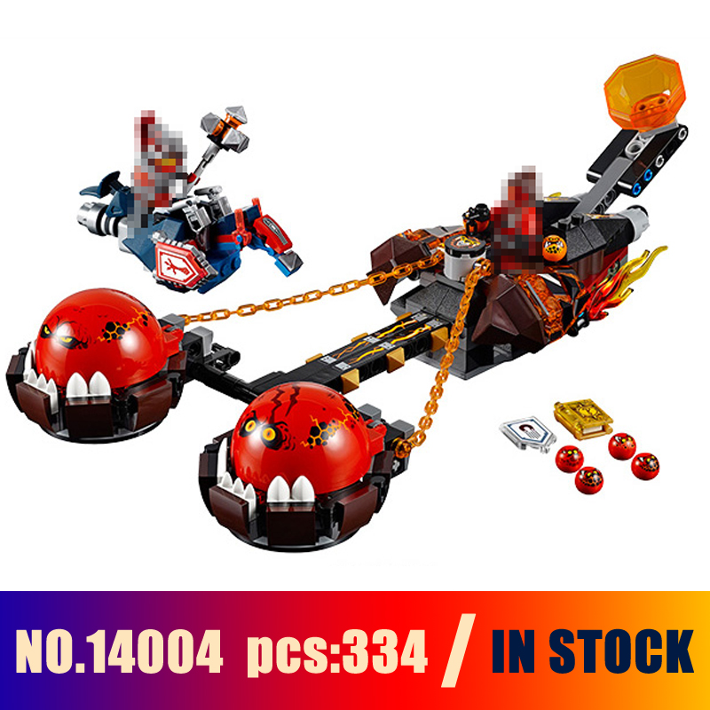 Models Building Toy Beast Master Chaos Chariot 334pcs 14004 Building Blocks Compatible Lego nexoe knights 70314 Toys & Hobbies lepin 14004 knights beast master chaos chariot building bricks blocks set kids toys compatible 70314 nexus knights 334pcs set