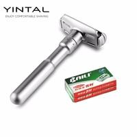 Full Zinc Alloy Safety Razor For Men Adjustable 1 6 Files Close Shaving Classic Double Edge