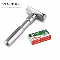 Full Zinc Alloy Safety Razor For Men Adjustable 1 6 Files Close Shaving Classic Double Edge