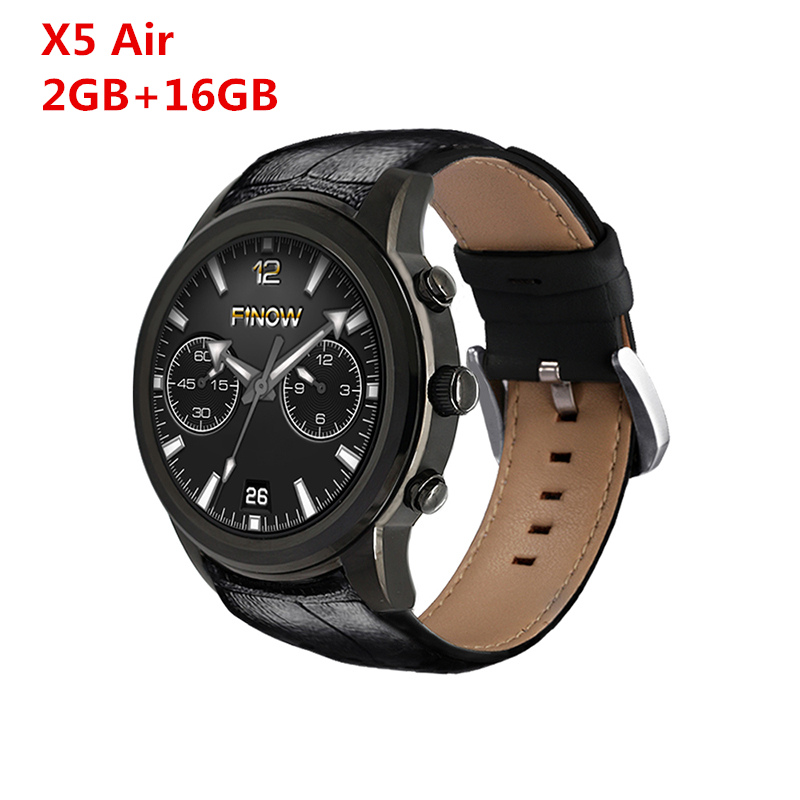 2017 Montre Smart Watch Android Finow Montre X5 Air montre bluetooth montre WiFi Bluetooth SmartWatch GPS 1.39 AMOLED Affichage