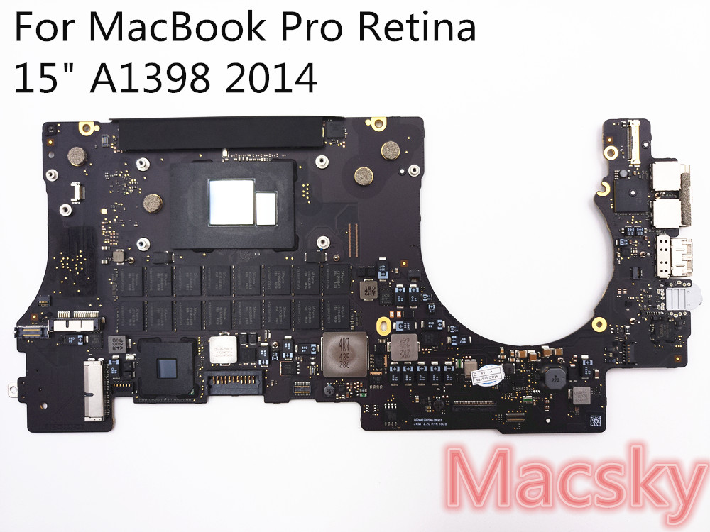Orignal Tested Motherboard for MacBook Pro Retina 15 A1398 2014 i7 2 2 GHz 16GB font