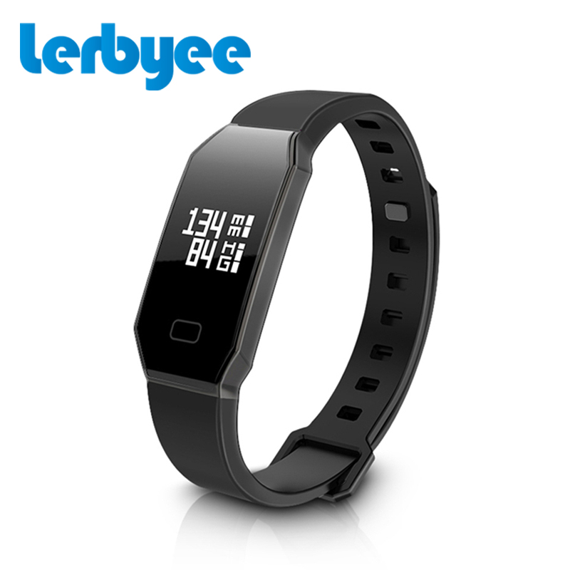 Lerbyee WP105 Smart Band Count Steps Monitor Tracker Sleep Quality Waterproof Smart Bracelet Heart Rate Blood Pressure Monitor
