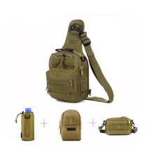 Military Tactics Outside Nylon Wading Chest Pack Pochete Combo Bundle 3 Small Pouch Man Shoulder Cross-body Bag