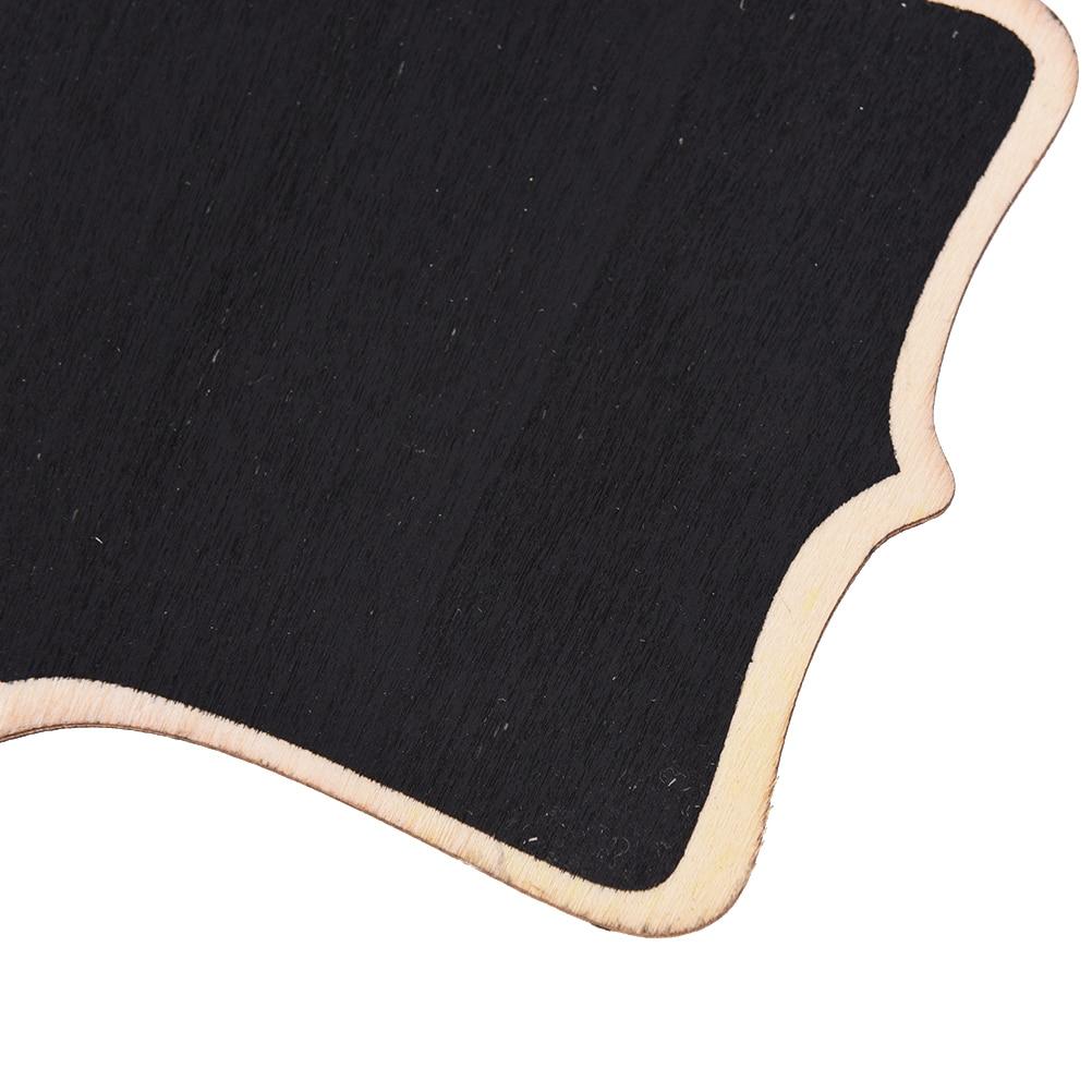 12*16*0.25cm Wooden Wall-mount Black Board With Rope/Wood Blackboard Memo/Message Board