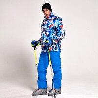 Зимняя Лыжная куртка Костюмы Для мужчин Водонепроницаемый куртка для снежной погоды Термальность пальто открытый Mountain Лыжный Спорт сноубо