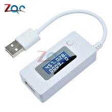 ЖК-детектор USB Вольтметр Амперметр мобильное зарядное устройство Емкость Тестер измеритель напряжения тока зарядка монитор 3 в-7 в DC 3-7 в