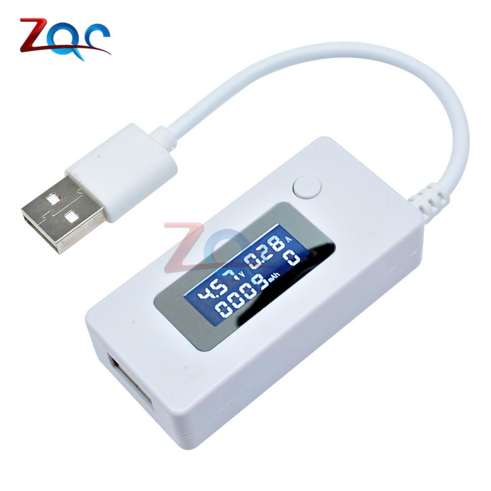 LCD USB Detector Voltmeter Ammeter Mobile Power Charger Capacity Tester Meter Voltage Current Charging Monitor 3V-7V DC 3-7V