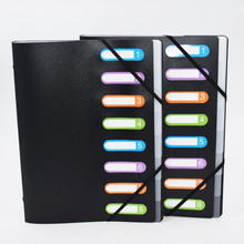 New Listing Multicolor 8 Into Multi-Page Classification Folder A4 PP File Holder Storage Bag Portfolio Office Learn Good Helper 21 page 8
