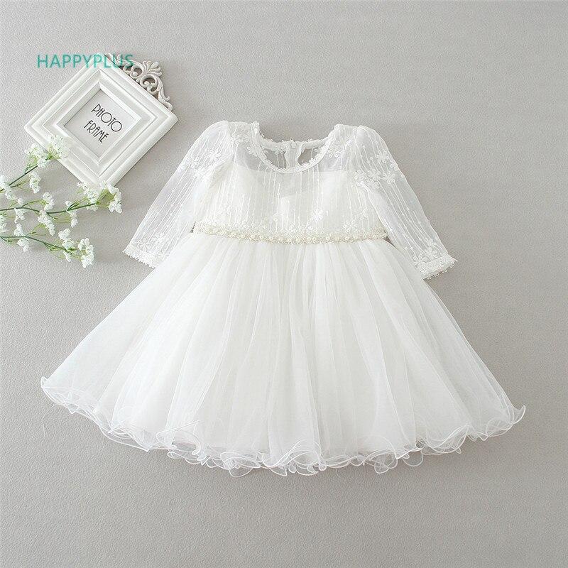 HAPPYPLUS Baby Christening Dresses For Girls 1st Birthday Girl Party Princess Prom Dress Infant Girl Baptism Baby Dress Wedding