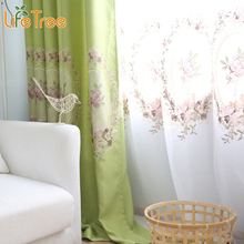 1 PC LLuxury Thick Linen Curtains In Bedroom Elegant Tulle Curtain For Living Room Window Custom Made 4 Colors