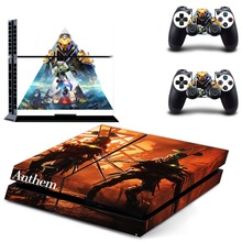 лучшая цена Game Anthem PS4 Skin Sticker Decal Vinyl for Playstation 4 Console and 2 Controllers PS4 Skin Stickers