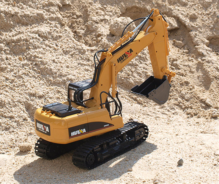 [Funny] Multifunction 15 channel 2.4G RC Excavator Charging RC <font><b>Car</b></font> <font><b>electronic</b></font> Remote control Alloy Excavator truck For <font><b>kids</b></font> gift image