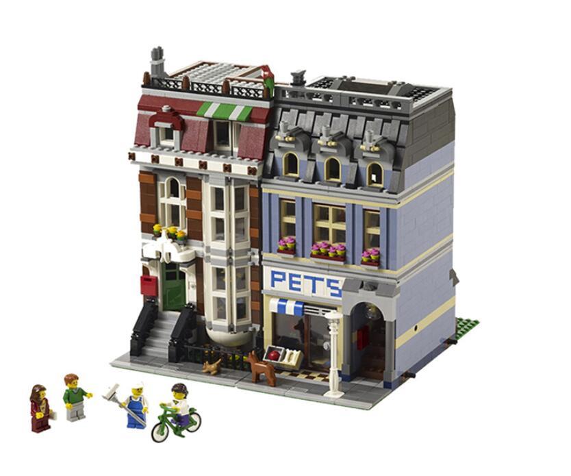 DHL 15009 ville rue ensemble Pet Shop modèle Kits de construction blocs briques d'action bébé beau jouet 10218 bricolage cadeau éducatif pour