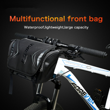 Waterproof Bike Bag Large Capacity Handlebar Front Tube Bag Bicycle Pocket Shoulder Backpack Cycling Bike Accessories цена 2017