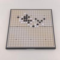 Foldable Game of Go Board Game Magnetic WeiQi Baduk Full Set Stone 18x18 Study