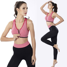 Sports Yoga Set Gym Seamless Leggings Bra 2 Piece Fitness Clothing Ladies Sportswear Exercise
