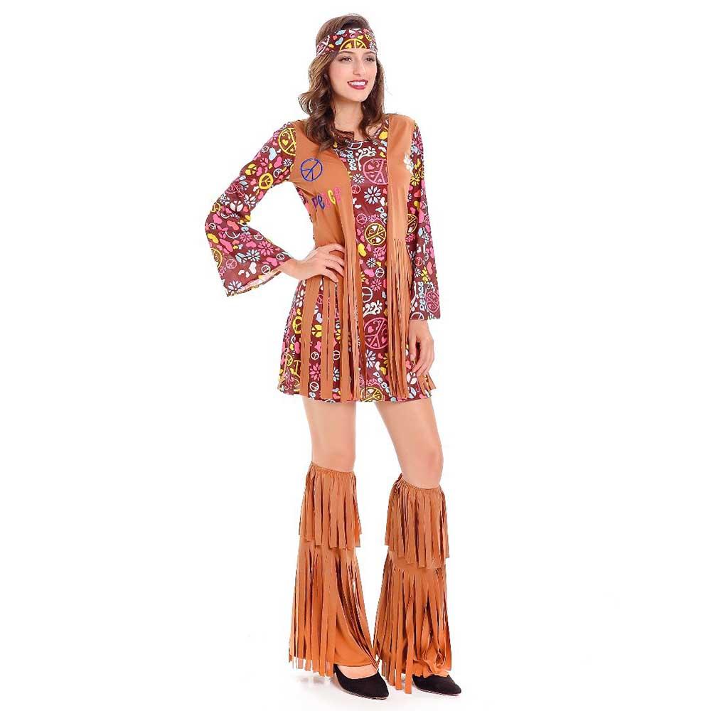Zig Zag Dress 60/' Mod Retro Go-Go Dancer Fancy Dress Up Halloween Adult Costume