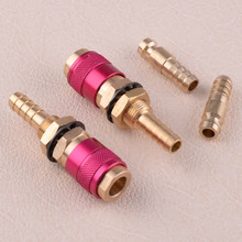 LETAOSK 2pcs M8 Red TIG Welding Torch Water Cooled & Gas Adapter Quick Connector Fitting(China)