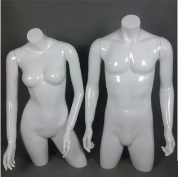 Top Level Manufacturing Technology Upper Body Manikin Gloss White Mannequin On Sale mannequin