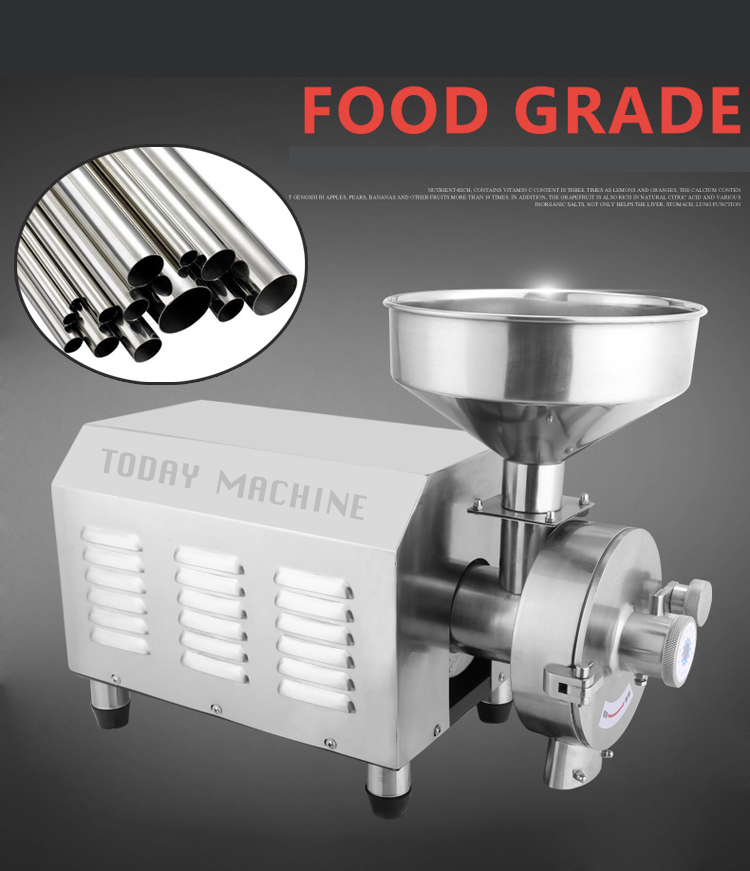 Small Stainless steel dry moringa leaf grind powder machine machine
