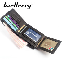 New Men Wallet Purse Small PU Leather Wallets Male Photo Credit Card Holder Organizer Wallet For