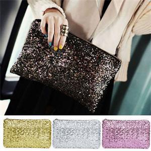 1 StÜck Partei Abend Handtaschen Für Weibliche Neue Kleine Reißverschluss Pailletten Langen Tag Handtasche Frauen Mädchen 4 Farben