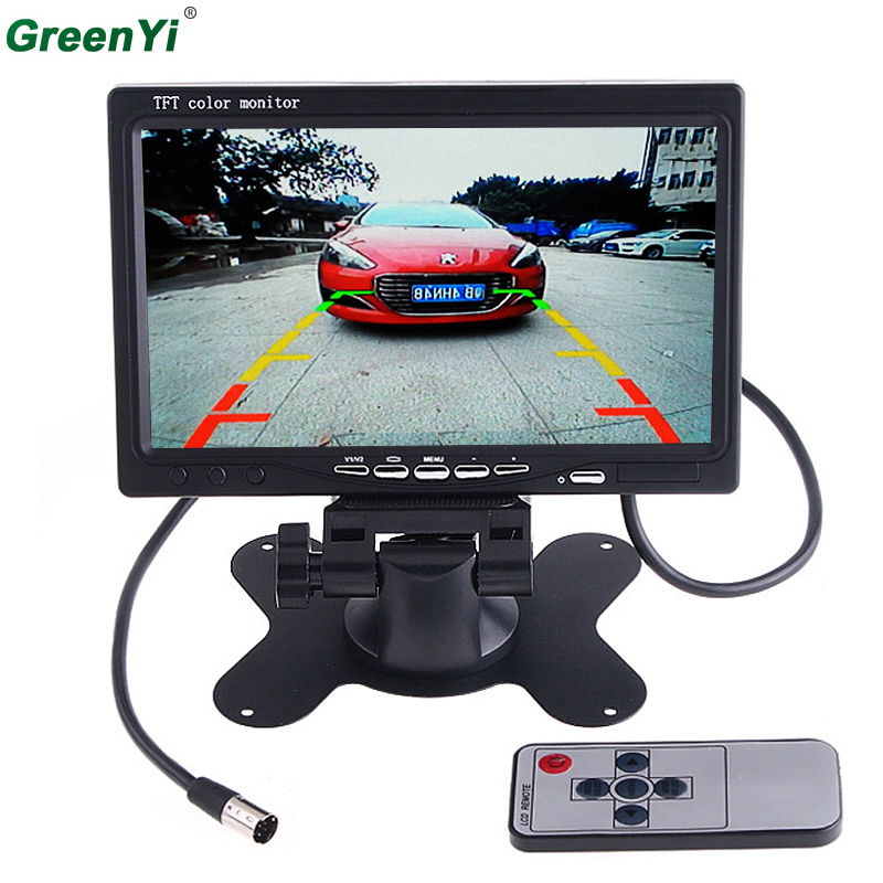 GreenYi T701 10PCS Wholesale 7 inch TFT LCD LED Backlight 2 Video Input Car RearView Headrest Monitor