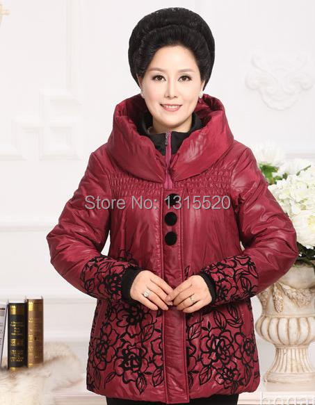 Coats Printing Jackets hot models in older women's cotton winter fashion mother body decoration printing new coat 91470 lucie baker and eyal gringart body image in older adulthood