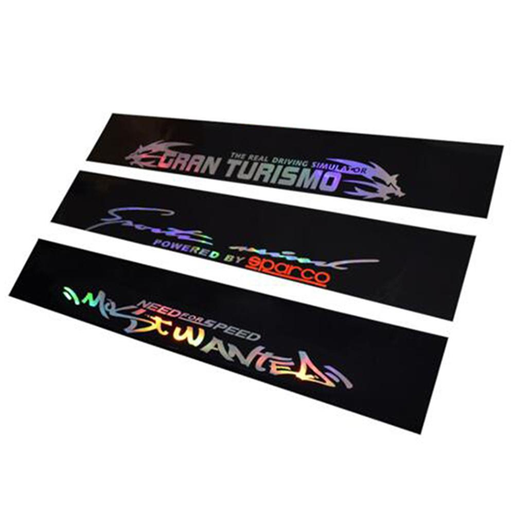 New 8 X 52 PVC Windshield Sticker Banner Strip Racing Front Rear Window Car Sun Visor Laser Reflective Decorative Stickers-in Car Stickers from Automobiles & Motorcycles