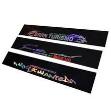 New 8 X 52 PVC Windshield Sticker Banner Strip Racing Front Rear Window Car Sun Visor Laser Reflective Decorative Stickers