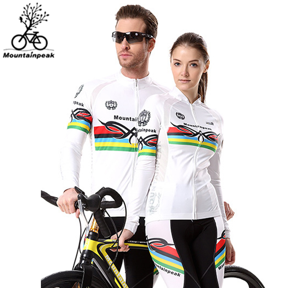 Mountainpeak Pro Team Cycling Jersey Set Long Sleeve Women Men Couple Bicycle Suit Cycling Skinsuit Specialized Riding Clothing