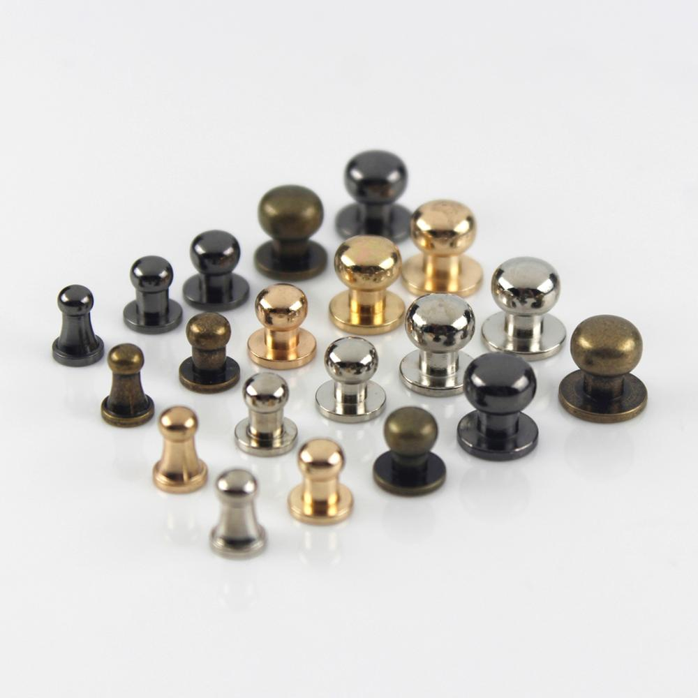 10pcs Sam Brown Browne Buttons Screwback Round Head Ball Post Studs Nail Rivets Leather Craft Hardware Accessories