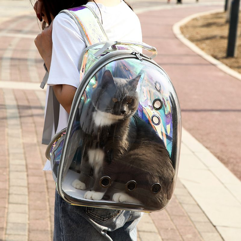 THINKTHENDO New Pet Carrier Bag Space Backpack Space Capsule Mesh Breathable Cat Small Dog Travel Outdoor