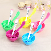 KESMALL 1SET DIY Mask Bowl Homemade Appliances Combination Stick Brush Measuring Spoons Beauty Make-up Tools CL0083