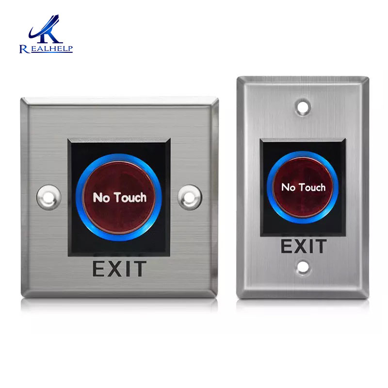 Smart IR Sensor Push Buttons No Touch Infrared Door Exit Push Release Button Switch For Access Control System